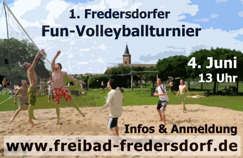 Plakat Volleyballturnier